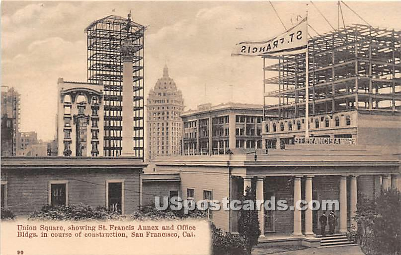 Union Square St Francis Annex & Office Buildings in San Francisco California Vintage