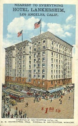 Hotel Lankershim - Los Angeles, California CA Postcard