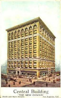 Central Building - Los Angeles, California CA Postcard