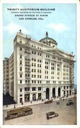 Trinity Auditorium Building - Los Angeles, California CA Postcard