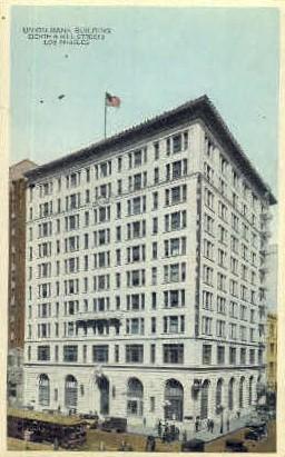 Union Bank Building - Los Angeles, California CA Postcard