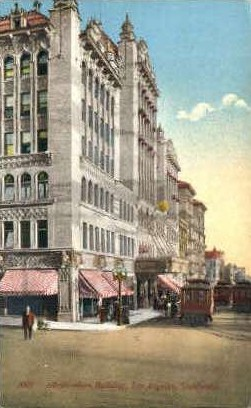 Auditorium Building - Los Angeles, California CA Postcard