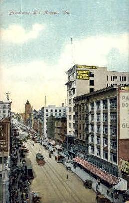 Broadway - Los Angeles, California CA Postcard