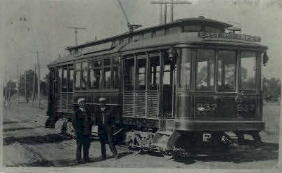 East 7th Street Trolley - Los Angeles, California CA Postcard