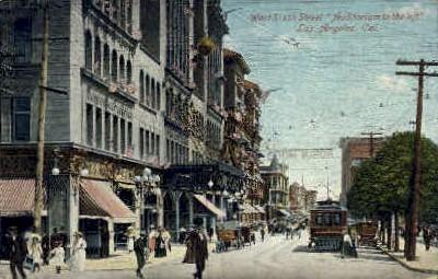 Sixth St. - Los Angeles, California CA Postcard
