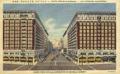 Rosslyn Hotel - Los Angeles, California CA Postcard