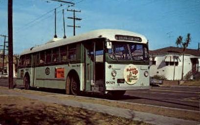 Motor Bus - Los Angeles, California CA Postcard