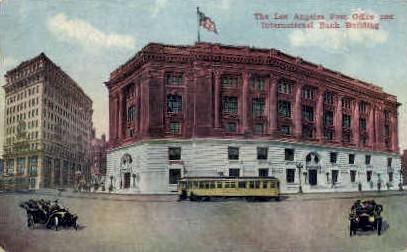 Post Office & International Bank Building - Los Angeles, California CA Postcard