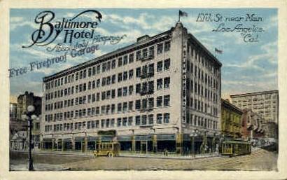 Baltmore Hotel - Los Angeles, California CA Postcard