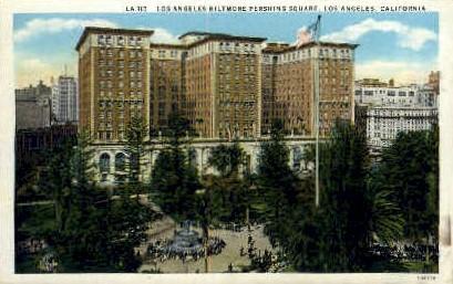 Biltmore-Pershing Square - Los Angeles, California CA Postcard