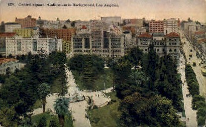 Central Square - Los Angeles, California CA Postcard