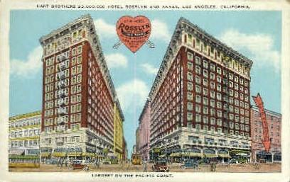 Hart Brothers Hotel Rosslyn & Annex - Los Angeles, California CA Postcard