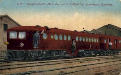 Southern Pacific Motor Car - Sacramento, California CA Postcard
