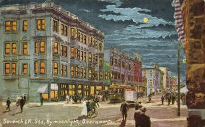 Seventh St. - Sacramento, California CA Postcard