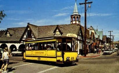 Trolley - Solvang, California CA Postcard