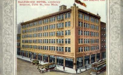 Baltimore Hotel - Los Angeles, California CA Postcard