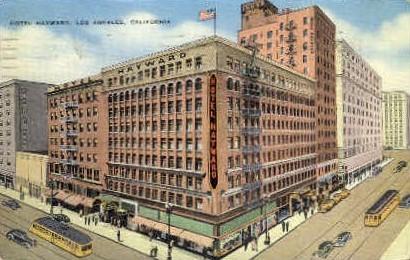 Hotel Hayward - Los Angeles, California CA Postcard