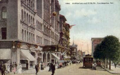 Fifth St. - Los Angeles, California CA Postcard