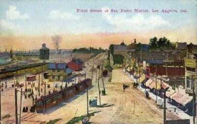 Front St. - Los Angeles, California CA Postcard