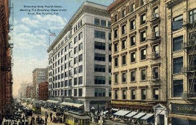 Broadway Department Store - Los Angeles, California CA Postcard