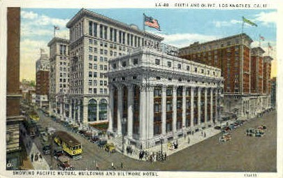 Pacific Mutual Buildings - Los Angeles, California CA Postcard