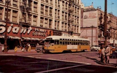 Trolley - Los Angeles, California CA Postcard