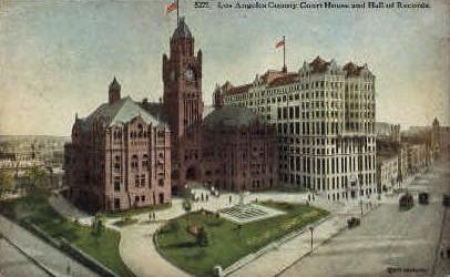 Los Angeles County Court House - California CA Postcard