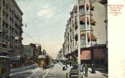 Main St. - Los Angeles, California CA Postcard