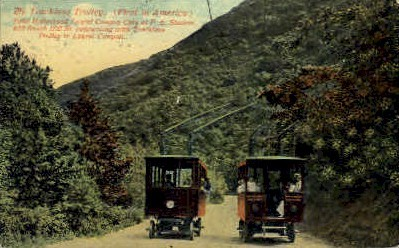 The Trackless Trolley - Los Angeles, California CA Postcard