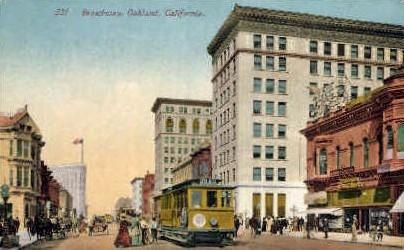 Broadway - Oakland, California CA Postcard