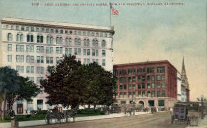 First National Bank & Central Banks - Oakland, California CA Postcard