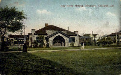 Key Route Station - Oakland, California CA Postcard