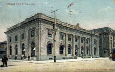 Post Office - Oakland, California CA Postcard