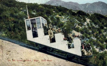 Mount Lowe Incline - Mt. Lowe, California CA Postcard