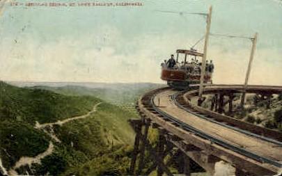 Circular Bridge - Mt. Lowe, California CA Postcard