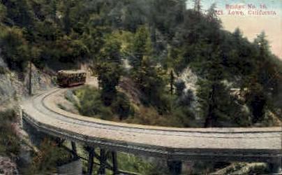 Bridge No. 16 - Mt. Lowe, California CA Postcard