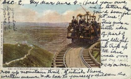 Car on Circular Bridge - Mt. Lowe, California CA Postcard