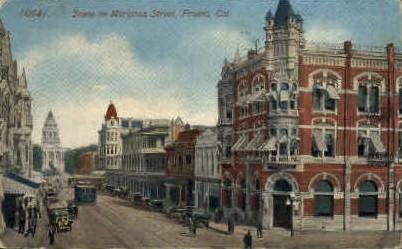 Mariposa St. - Fresno, California CA Postcard