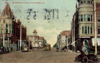Nineteenth St. - Bakersfield, California CA Postcard