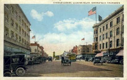 Chester Ave. - Bakersfield, California CA Postcard