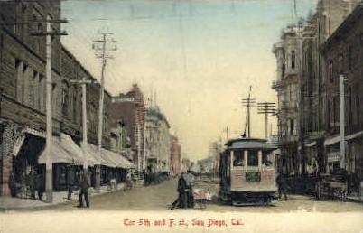 5th St. - San Diego, California CA Postcard