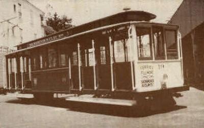Cable Car - Sacramento, California CA Postcard