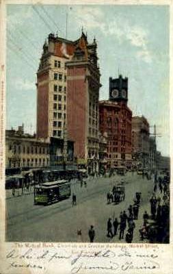 The Mutual Bank on Market St. - San Francisco, California CA Postcard