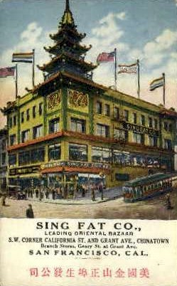 Sing Fat Co. - Los Angeles, California CA Postcard