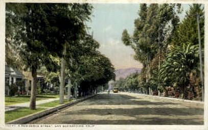 A Residence St. - San Bernardino, California CA Postcard