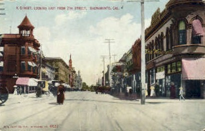 K Street - Sacramento, California CA Postcard