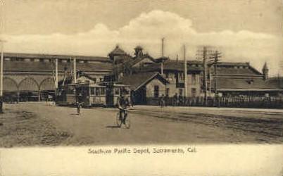 Southern Pacific Depot - Sacramento, California CA Postcard