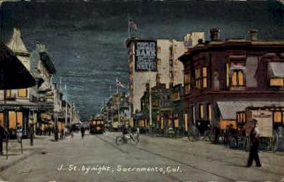 J St. - Sacramento, California CA Postcard