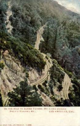 Road to Alpine Tavern - Mt. Lowe, California CA Postcard