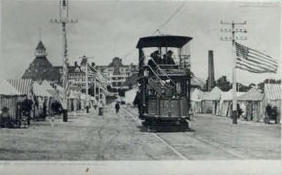 Double Decked Trolley Car - Coronado Beach, California CA Postcard